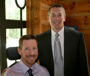 Arvid Wakefield with brother-in-law Brian Hinson
