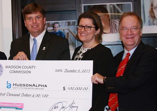 Madison County Commission donates $100,000 to HudsonAlpha