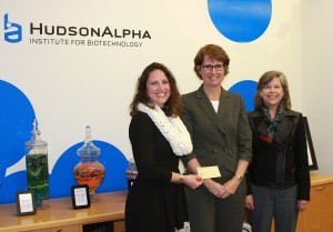 Jennifer Carden (left) accepting a $5,000 donation from NDIA-TVC officers Patty Popour and Suzanne Norris.