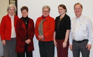 Left to right, Voncille Cleary, Susan Sommer and Johanna Cleary with HudsonAlpha postdoc Brittany Lasseigne and HudsonAlpha president and scientific director Rick Myers.