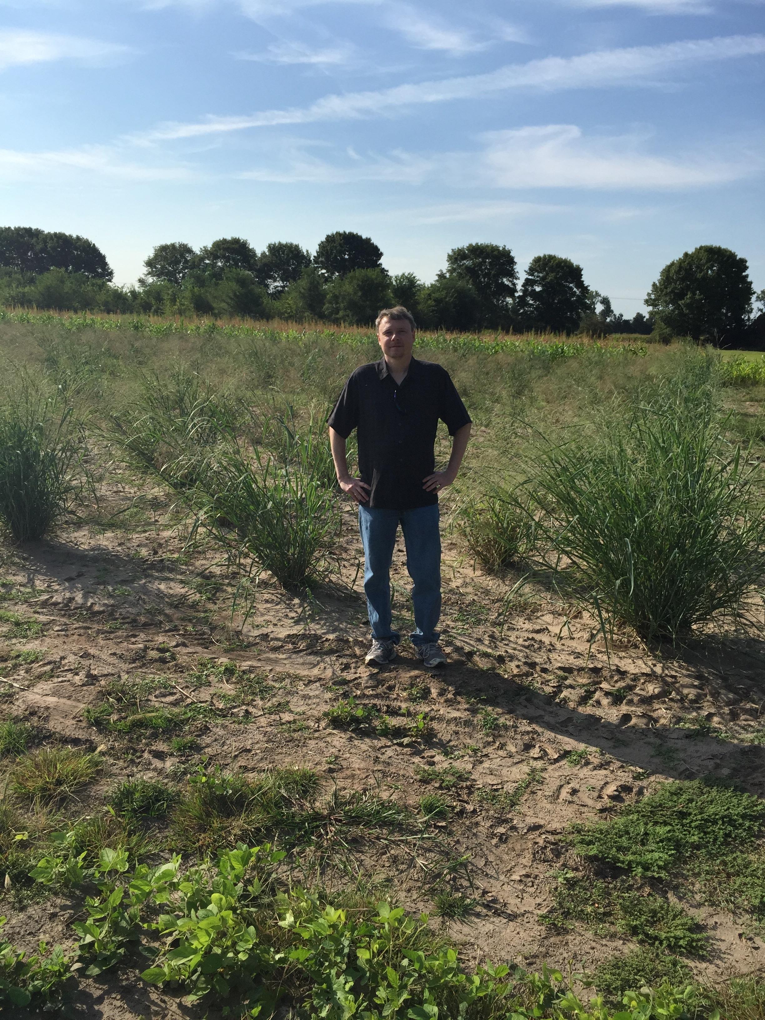 Jeremy in switchgrass